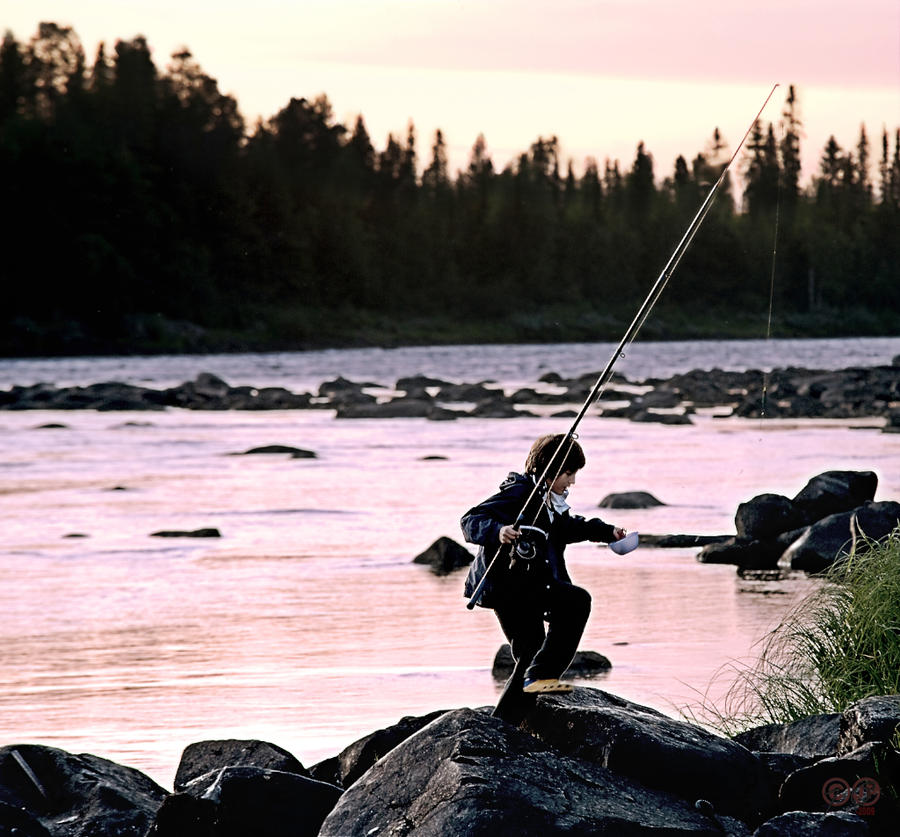 The Sunset Fisher by MarcWeiz