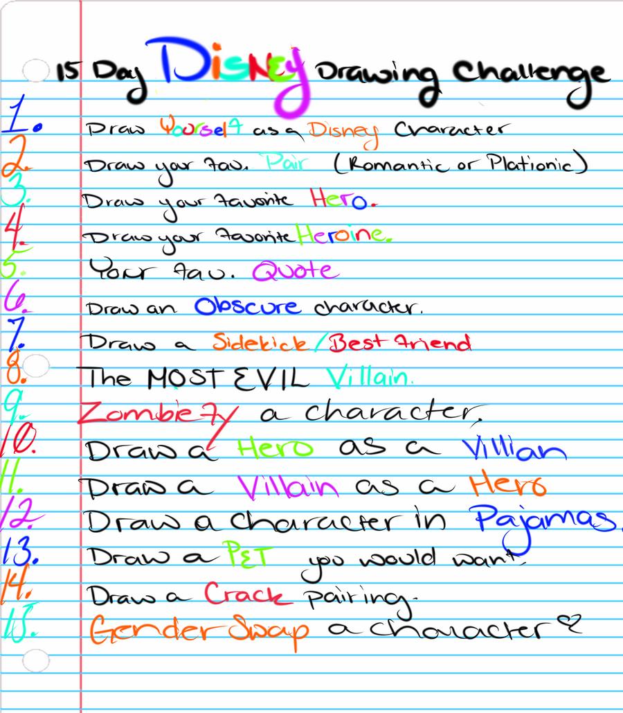15 Day Disney Drawing Challenge