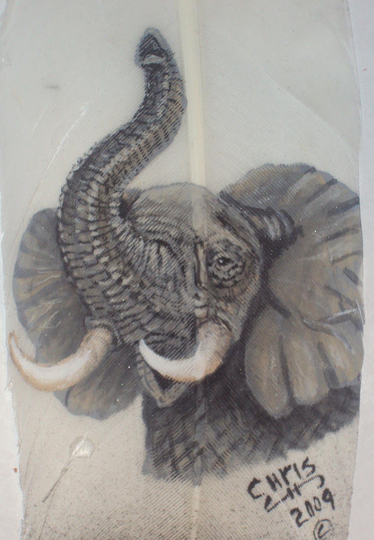 African Elephant trunk up by featherladyAfrican Elephant Drawing Trunk Up