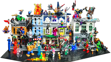 Lego Modular Builds w/ Marvel Heros Battle by Rogue24