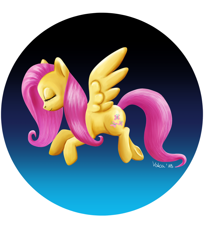 Fluttershy - Walking in the air by Valca0