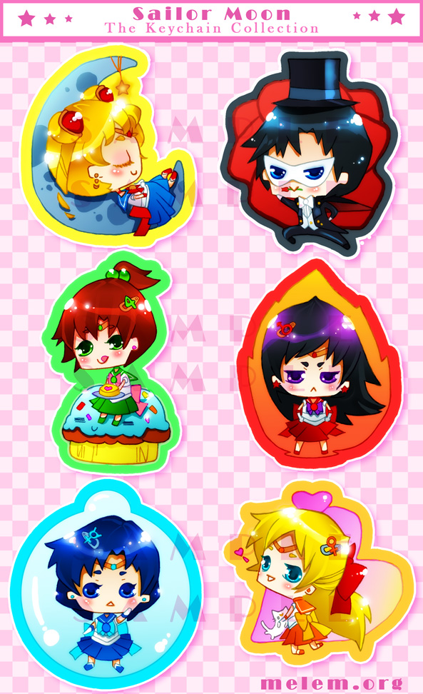 Sailor Moon: keychains by melem