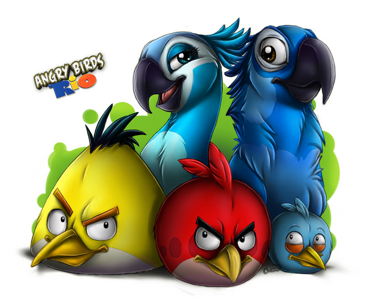 Angry Birds Rio by chezzepticon