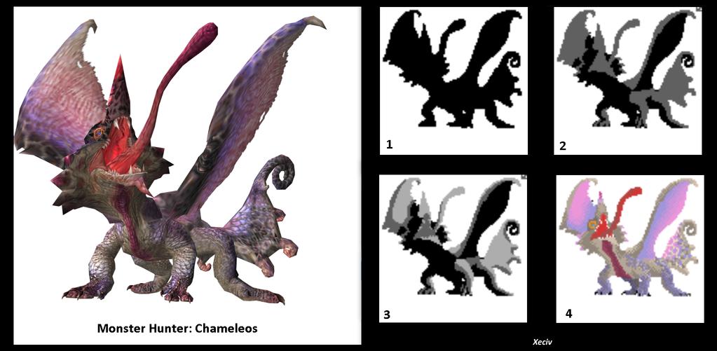 Chameleos Pixel Art by Xeciv