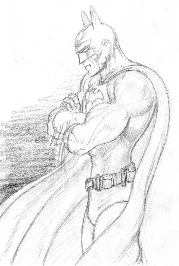 Batman sketch: pencil by JBarraxJr on DeviantArt