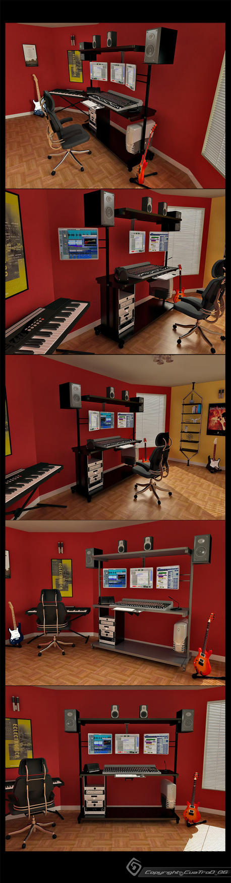 Music studio by cuatrod