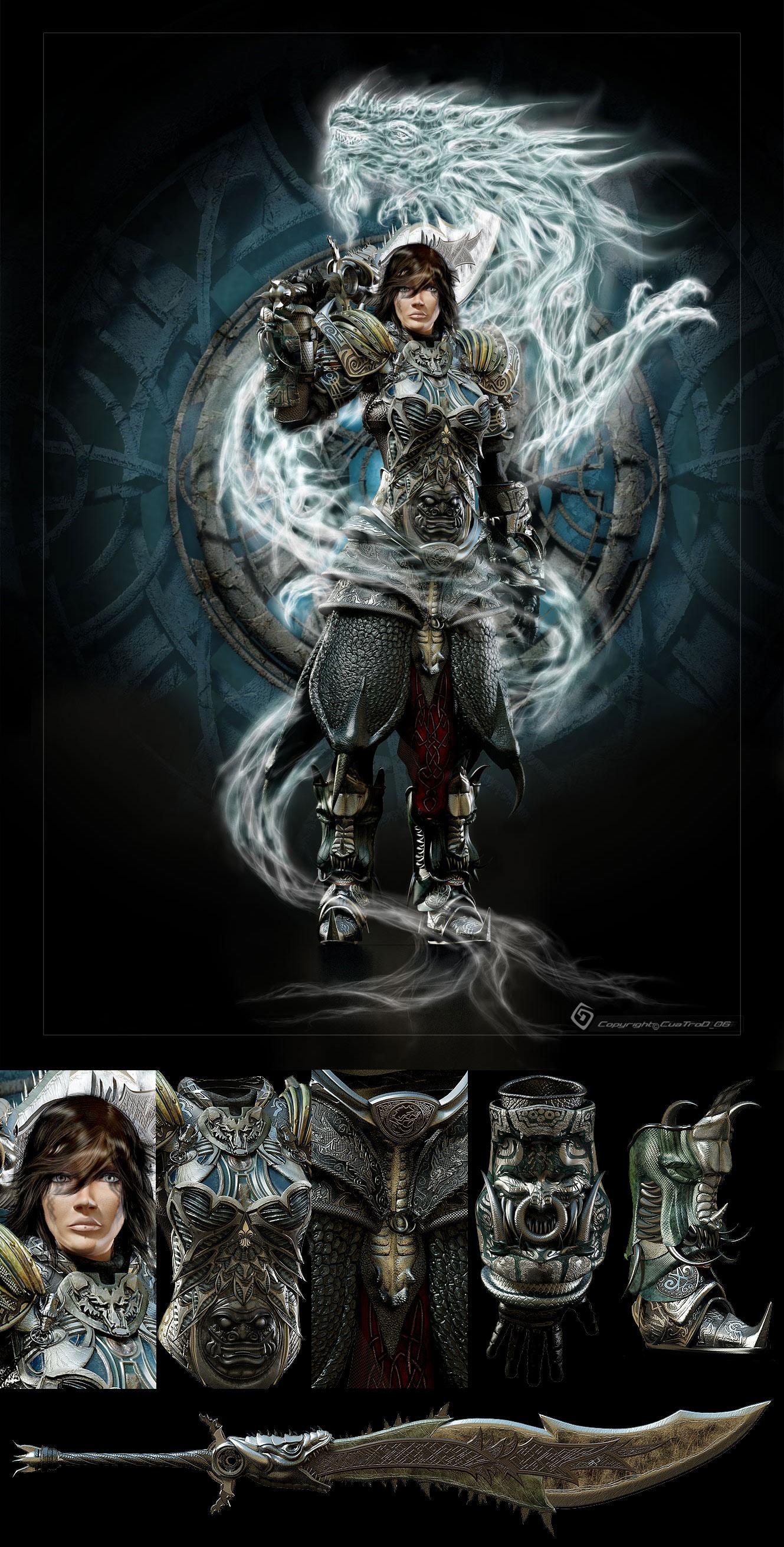 Warrior-Dragon by cuatrod
