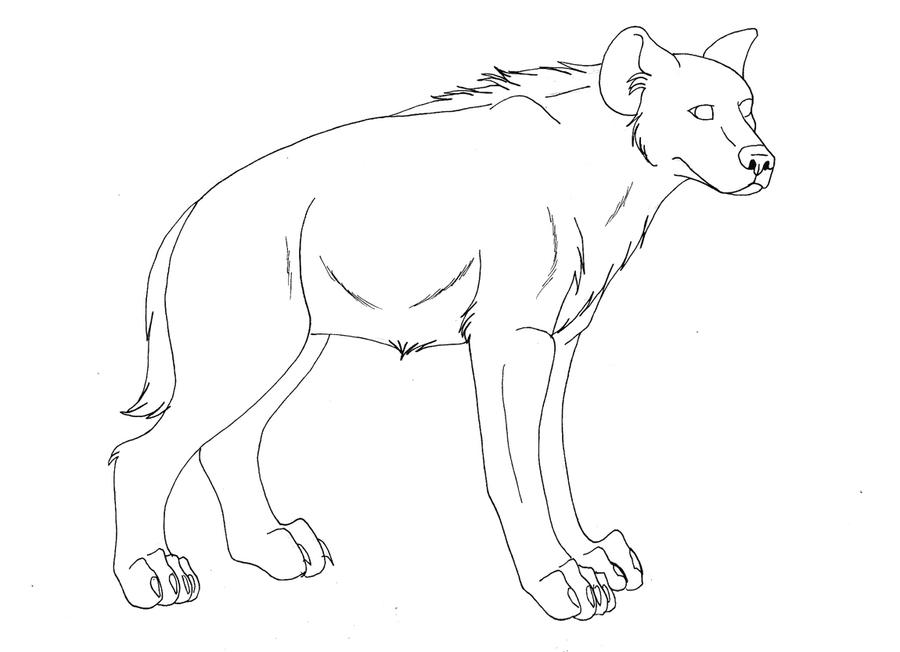 Hyena Lineart by Kaeda-adoptables