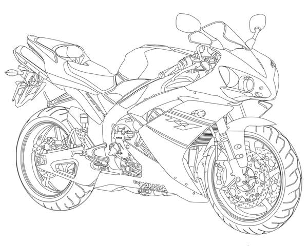 yamaha r6 coloring pages coloring pages