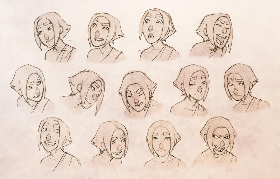 Character Design Expression Chart : Character expressions by conniiption on deviantart