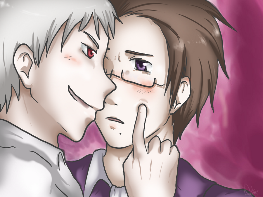 APH: Poke the soft cheek by Akane-Hoshiyo