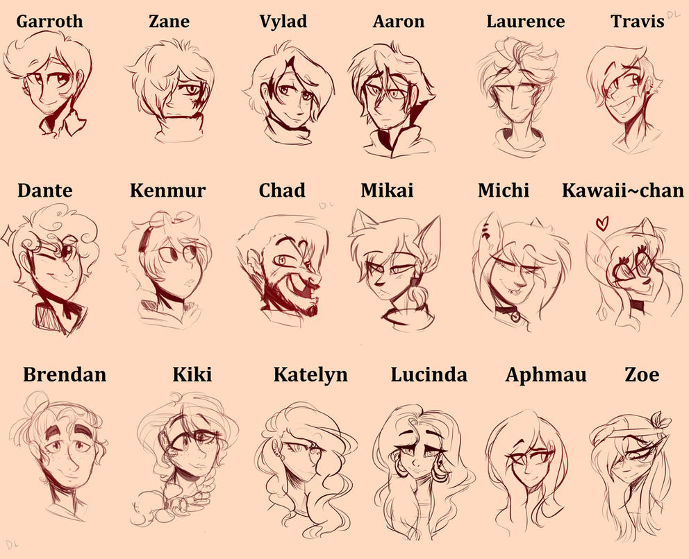 Aphmau Headshot Characters by egardanier