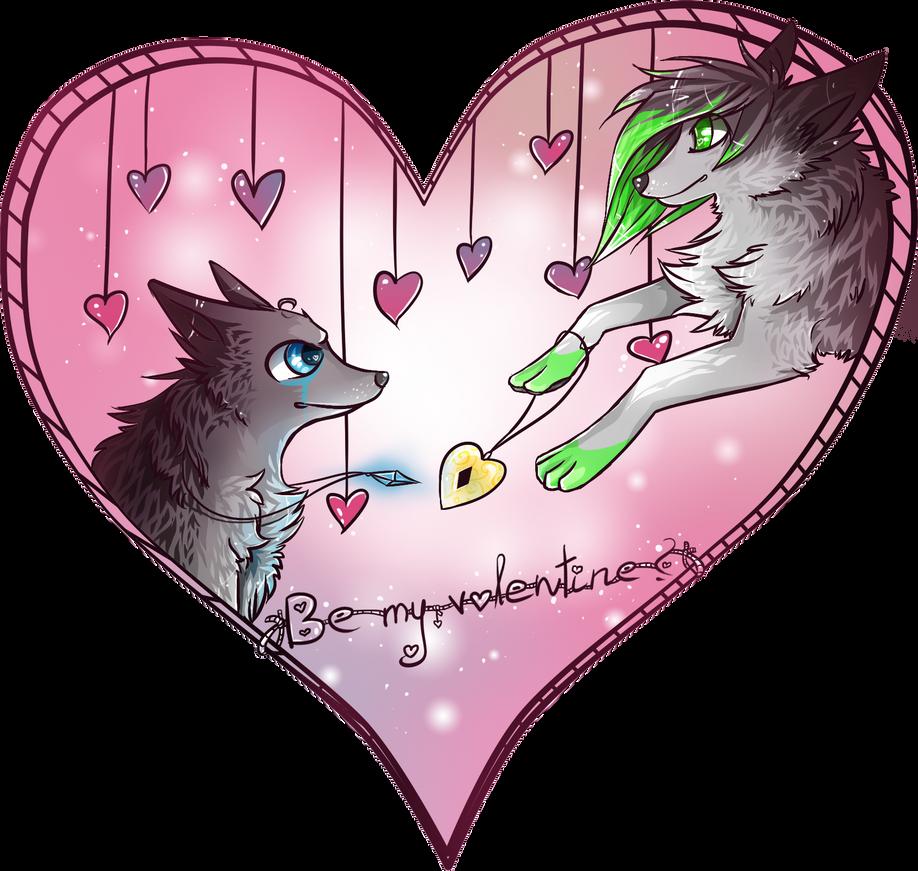 Be my valentine? by wolfyLRiina