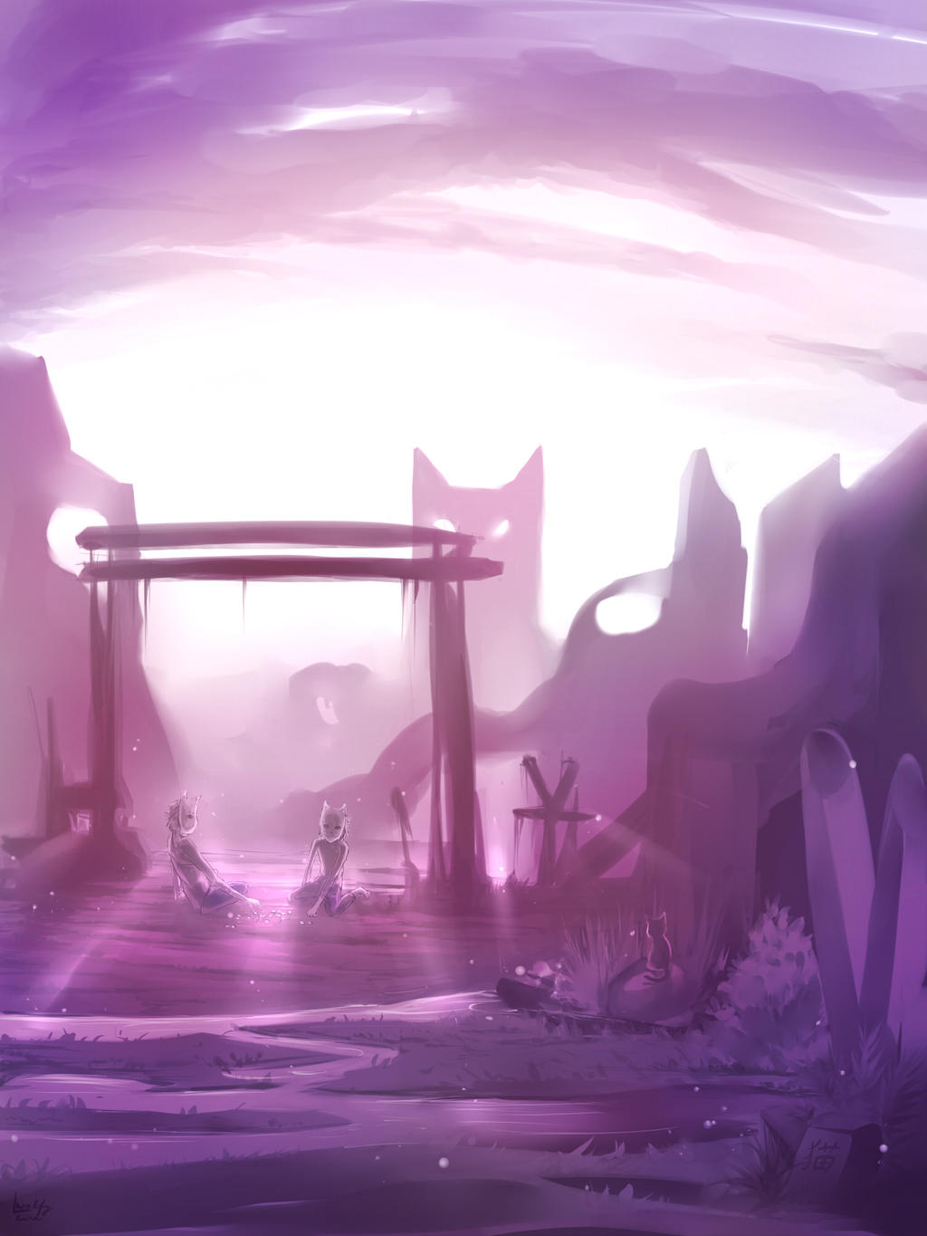 The world where we live all alone together by wolfyLRiina