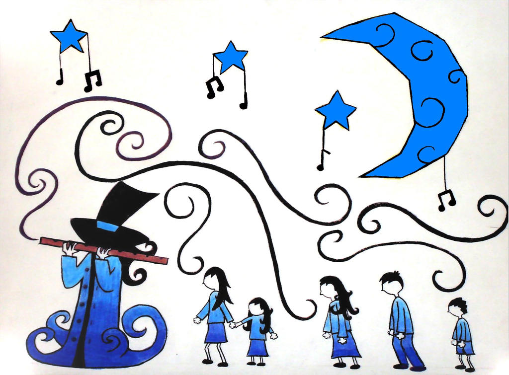 The Pied Piper of New Hamelin by Duende14