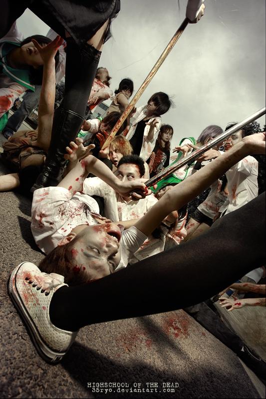 Highschool of the dead by 35ryo