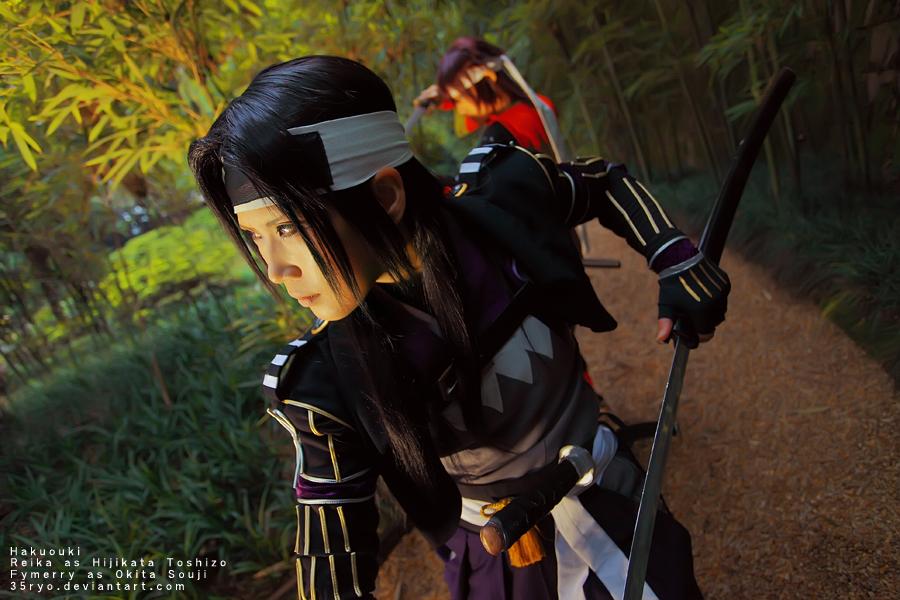 Hakuouki  Hijikata and Okita by 35ryo