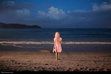 Ouma Mana with the sea by 35ryo