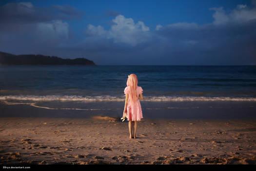 Ouma Mana with the sea