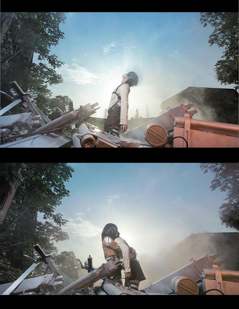 Attack on Titan Ehren Mikasa by 35ryo
