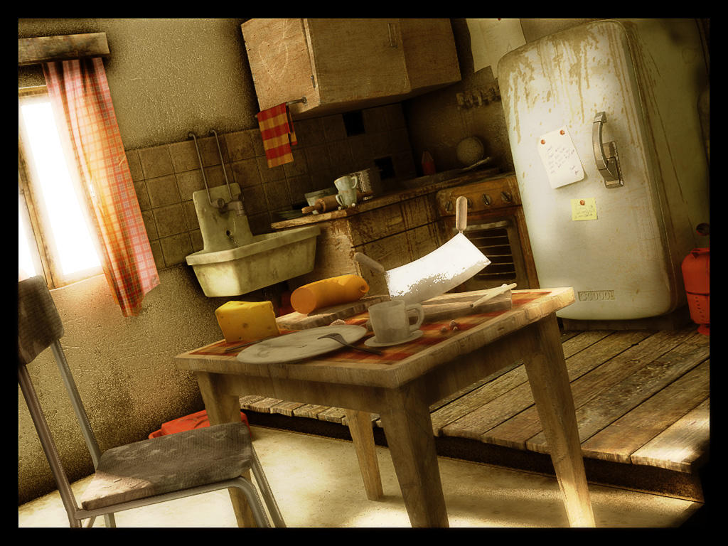 Dirty Kitchen by TranquilBoy