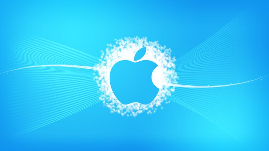 Blue Apple Wallpaper by chalkwebdesign