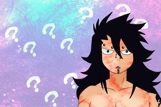 Gajeel Confused.