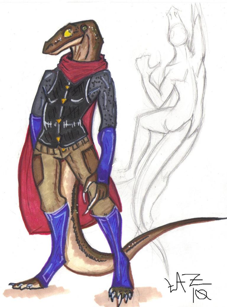 Lizardman Concept by Margolo-Blu