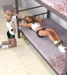 Tied Her Ankles And Cufferd Her To The Bed