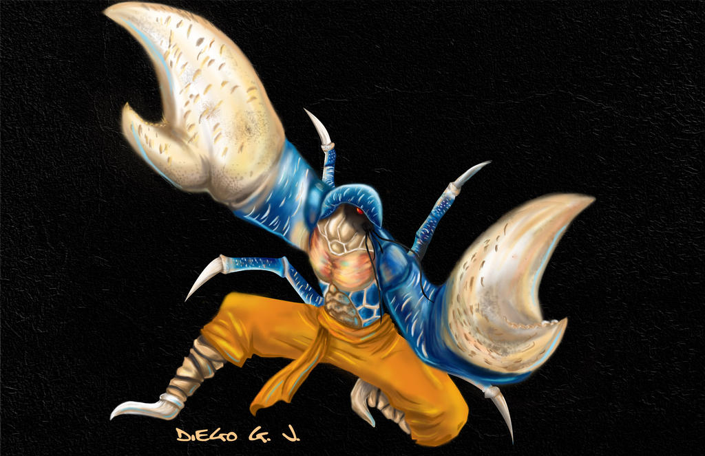 Fichas de Personajes de RTI - Página 2 Coconut_crab_kung_fu_fighting_by_shaman_kid-d5mrslf