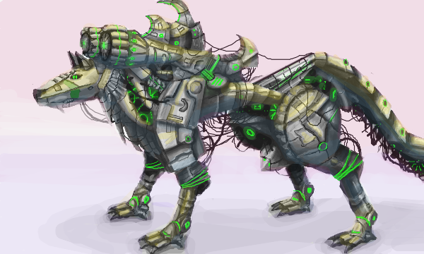 Robot Wolf By Alfinch On DeviantArt