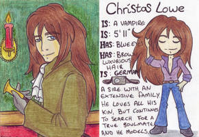 Christas Trading Card by drazzi