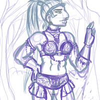 Sketch: Magical Amazon by drazzi