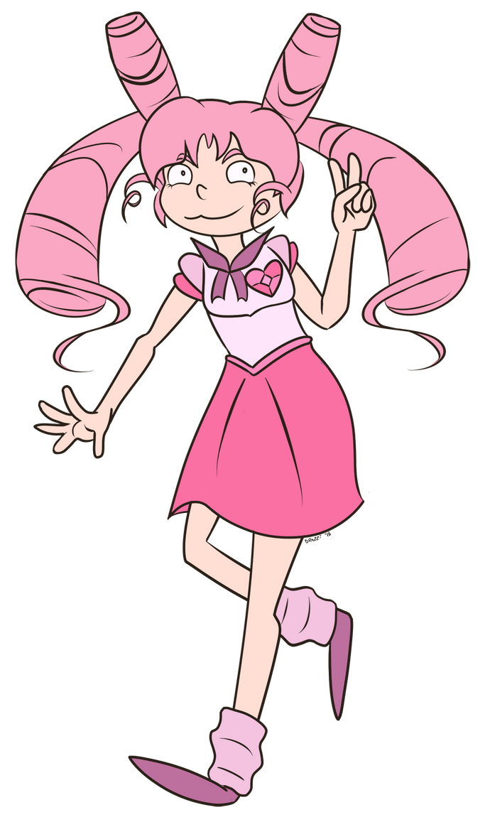 FA:: Sailor Gems - Sailor Chibi Rose Quartz by drazzi