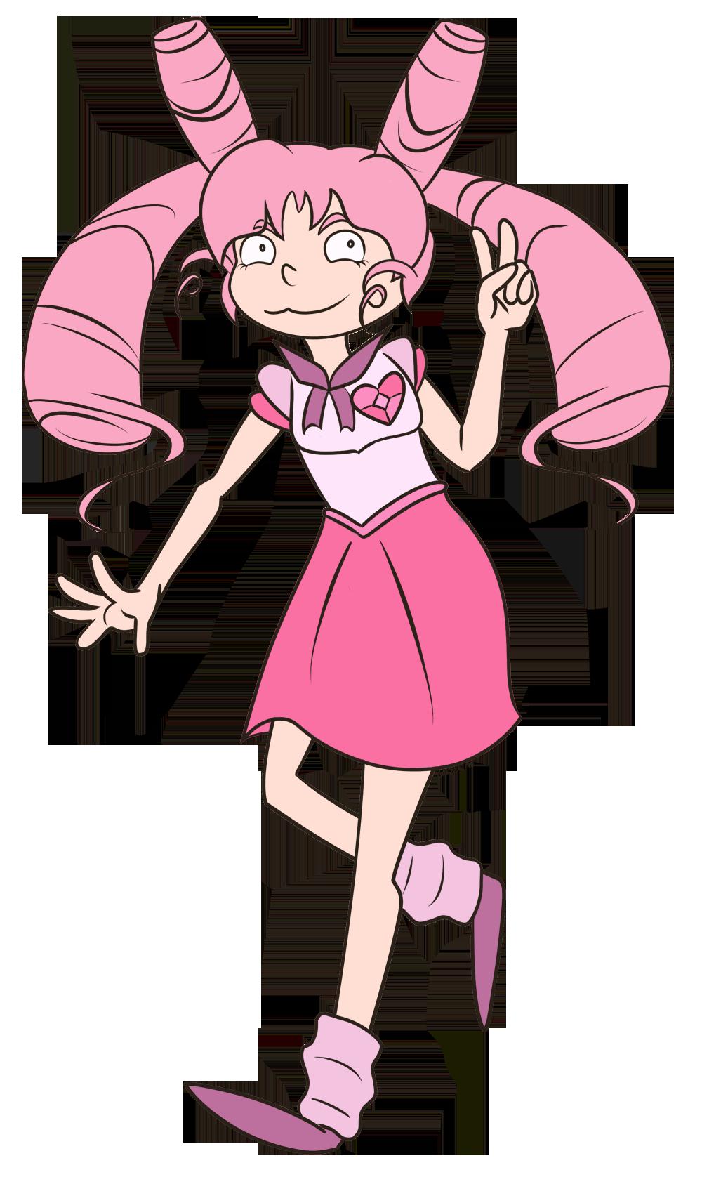 FA:: Sailor Gems - Sailor Chibi Rose Quartz by drazzi