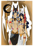 Sesskag- Anubis and his wife Anput