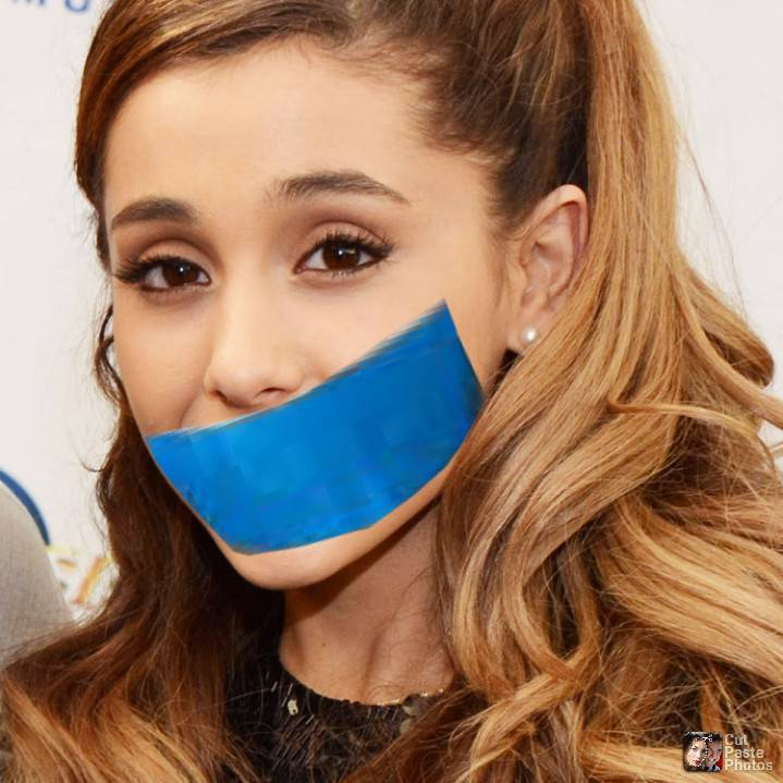 Grande gagged ariana Ariana Grande