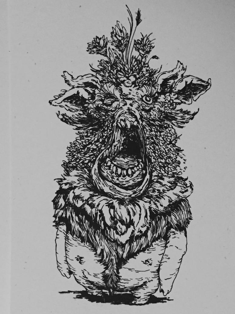 Untitled Fairy Drawing by vickangaroo