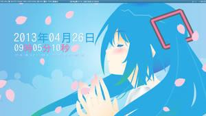 Sakura Miku - My Openbox Desktop 2013/04/26