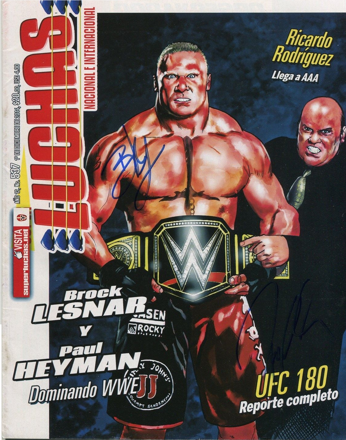 Brock Lesnar WWE World Heavyweight Champion RARE By Nibble T