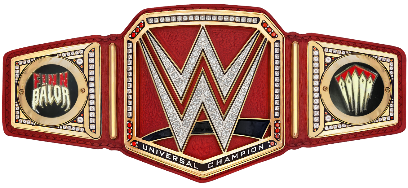 finn balor wwe universal championship sideplates by nibble t on