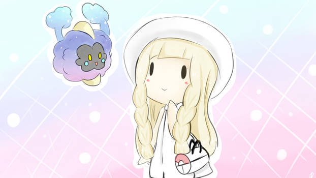 Chibi Lillie and Cosmog