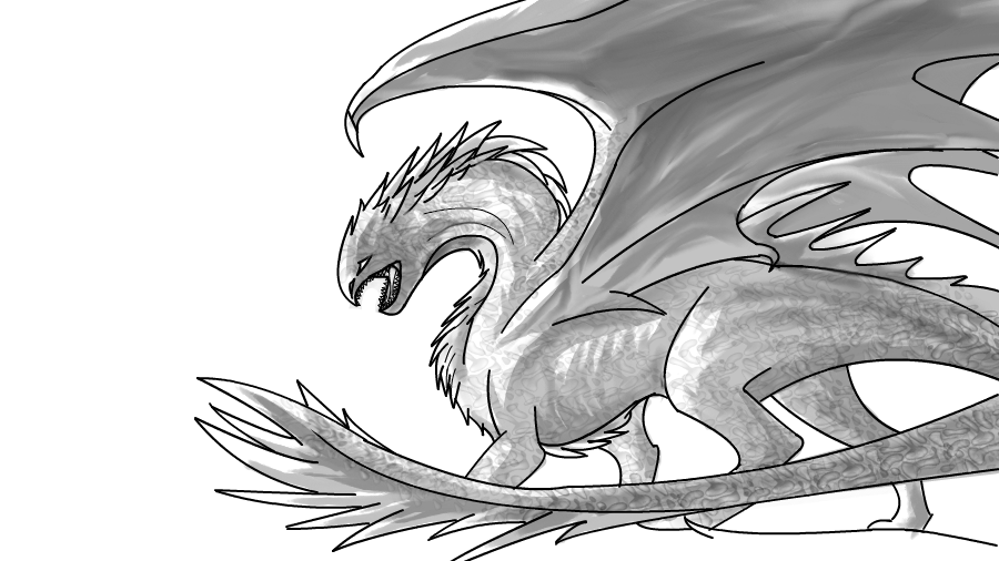 Dragon WIP by WhiteThorn13