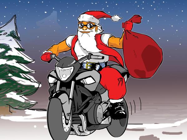 Immagini Babbo Natale In Moto.Buon Natale Lampeggio Forum Moto Entra Nel Forum Di