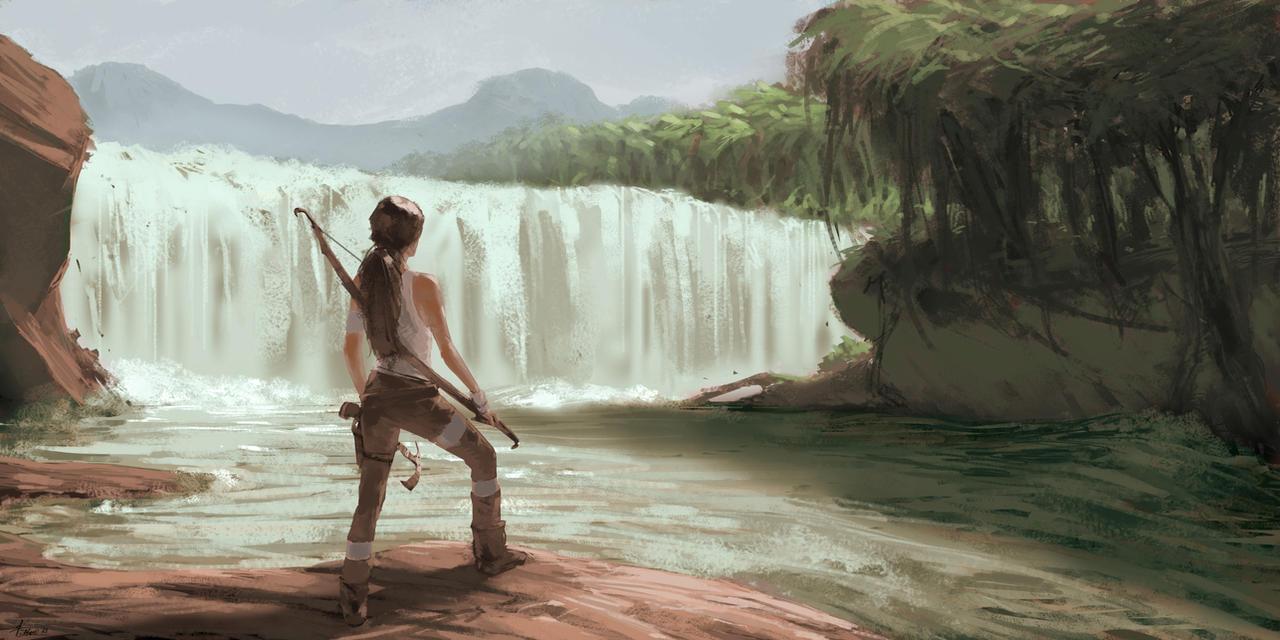 Waterfall by Dzizus