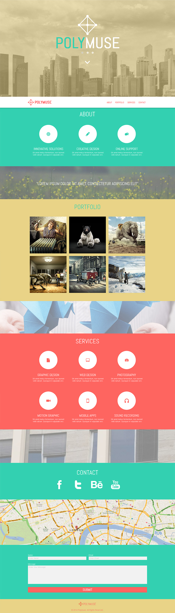 Polymuse One Page Parallax Muse Template By Pixelladyart On Deviantart