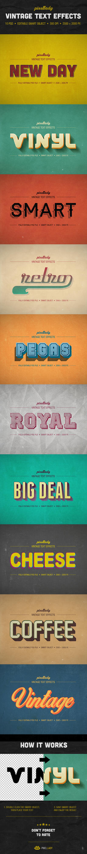 Vintage Text Effects by PixelladyArt