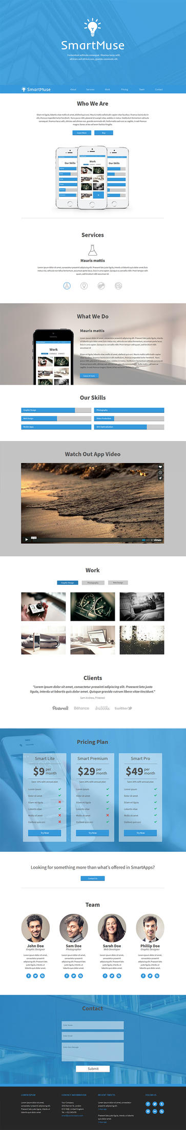 SmartMuse - One Page Parallax Muse Template by PixelladyArt