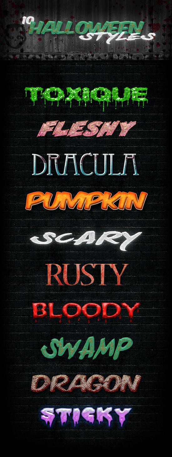 10 Halloween Styles Freebie by PixelladyArt