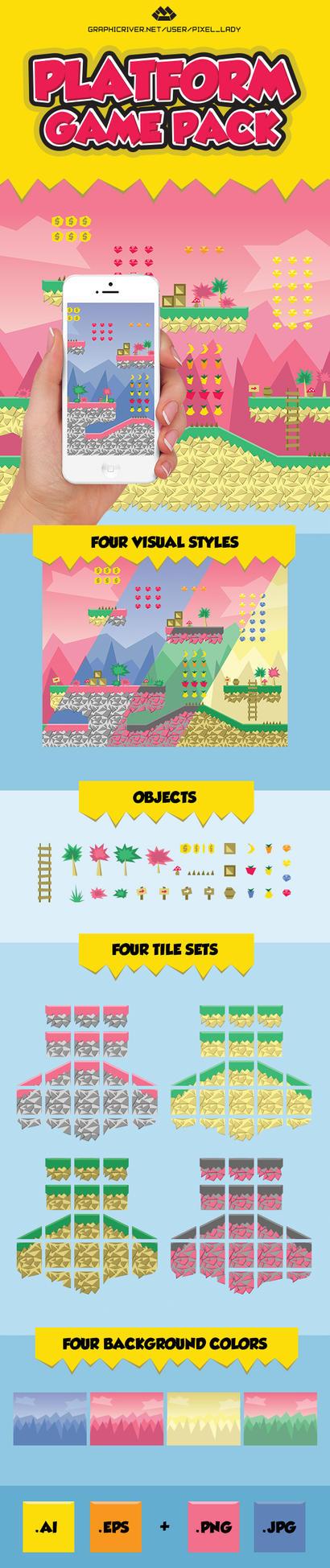 Platform Game Pack by PixelladyArt